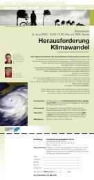 Klimaforum - SEA-Arbeitsgemeinschaft Klima, Energie und Umwelt