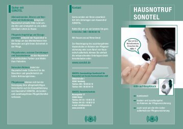 hausnotruf sonotel - stiftung-pflegebruecke.de