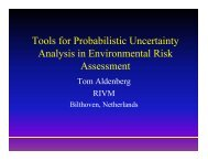 Tools for Probabilistic Uncertainty Analysis in ... - Cefic LRI
