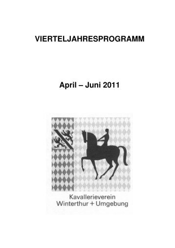 VJP 2. Quartal 2011 - Kavallerieverein Winterthur