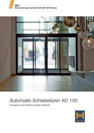 Automatik-Schiebetüren AD 100 - Hörmann KG