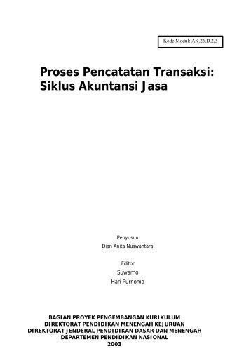 Proses Pencatatan Transaksi: Siklus Akuntansi Jasa - e-Learning ...