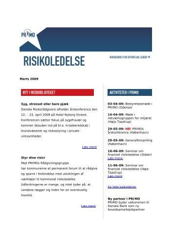 Download nyhedbrevet for marts 2009 - primo