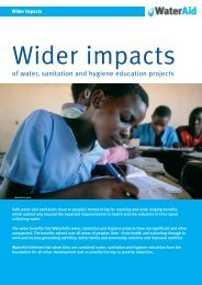 Wider impacts of water, sanitation and hygiene education ... - WaterAid