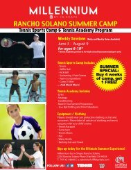 RANCHO SOLANO SUMMER CAMP - In-Shape Health Clubs