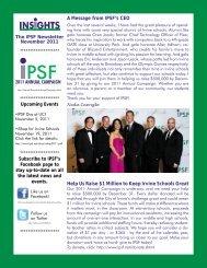 November 2011 - Irvine Public Schools Foundation