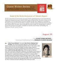 Guest Writer Series 2013-2014