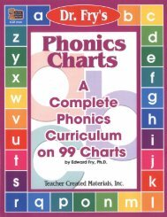 Dr. Fry's Phonics Charts - Perfection Learning