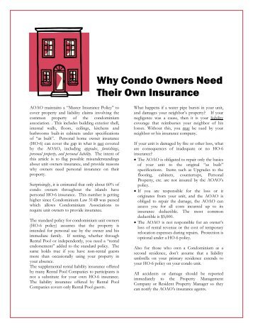 Why Condo Owners Need Their Own Insurance - Atlas Insurance
