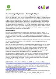 Gender inequality in cocoa farming in Nigeria
