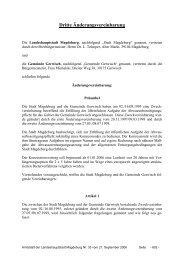 Dritte Änderungsvereinbarung - Landeshauptstadt Magdeburg