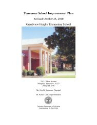 Tennessee School Improvement Plan - Memphis City Schools