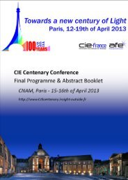Final Programme & Abstract Booklet - CIE