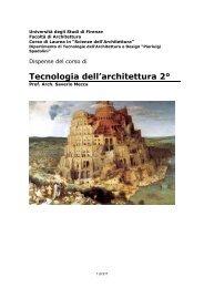 Tecnologia dell'architettura 2° - Dipartimento di Tecnologie dell ...
