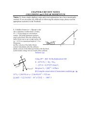 COLLISIONS and Conservation of Linear Momentum