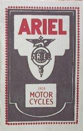 1924 brochure - Ariel Motorcycle Club of North America