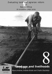 Land use and livelihoods - PLAAS