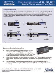 Operating Instructions for VP00, 10, 20, 80 and 90 Series Venturi ...