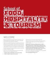 Food, Hospitality and Tourism - City of Glasgow College