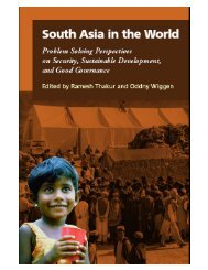 South Asia in the world - United Nations University
