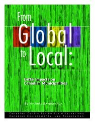 From Global to Local - Canadian Environmental Law Association