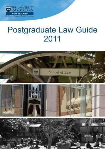 Postgraduate Law Guide 2011 - Faculty of Law - The University of ...