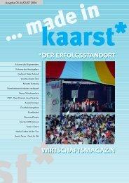 KAARSTER - WIRTSCHAFTSMAGAZIN