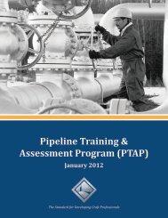 Pipeline Training & Assessment Program (PTAP) - NCCER