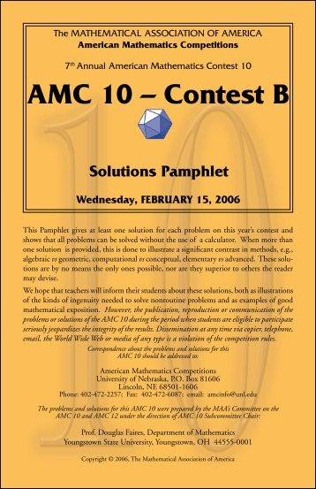 Th aMC 10 – Contest B