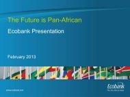 Ecobank Investor Presentation – February 2013