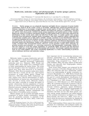 Biodiversity, molecular ecology and phylogeography of ... - BioOne