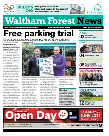 Issue 45: Free parking trial - Waltham Forest Council