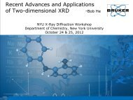 Recent Advances and Applications of Two-dimensional XRD