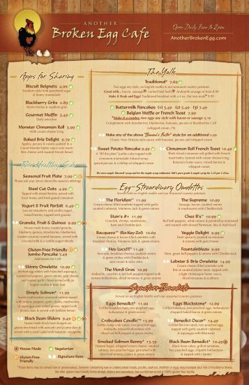 Menu - Another Broken Egg
