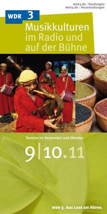 Oktober 2011 (PDF-Download: 1,9 MB) - WDR 3