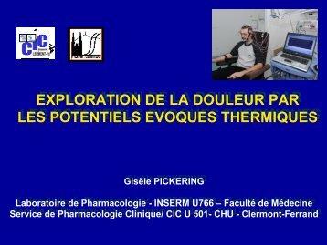 Exploration de la sensibilité thermo-algésique par les Potentiels ...
