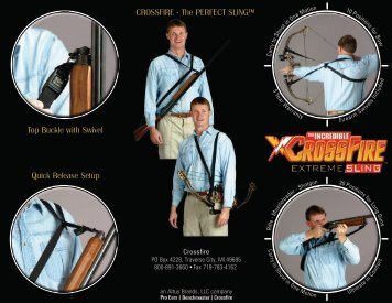 """CROSSFIRE - The PERFECT SLINGâ""""¢ Top Buckle with Swivel ..."""