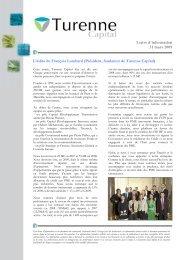 Lettre d'information FCPI Ecotech - Haussmann Patrimoine