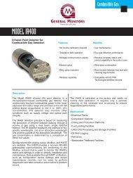 IR400 Infrared Gas Detector - Simark Controls