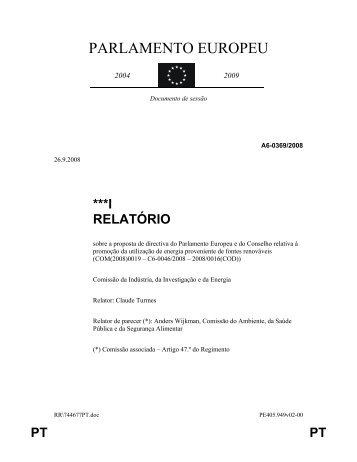 PARLAMENTO EUROPEU - Carlos Coelho