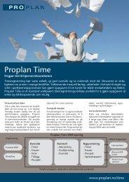 Proplan Time - Proplan AS