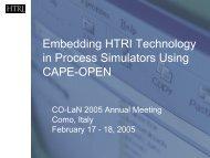 Embedding HTRI Technology in Process Simulators ... - CO-LaN