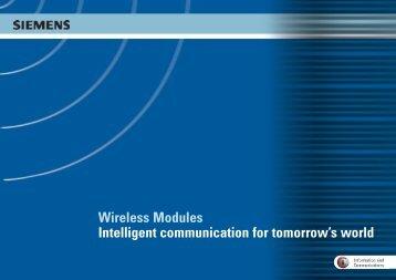 Wireless Modules Intelligent communication for tomorrow's world