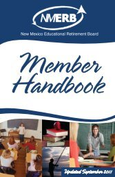 NM ERB Handbook - Educational Retirement Board