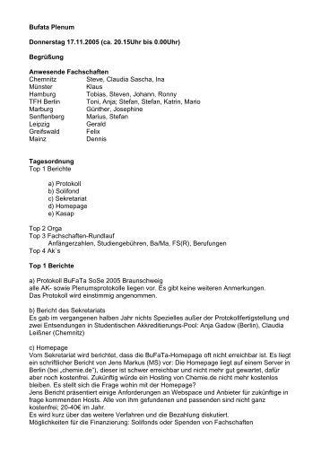 PDF-Protokoll - BuFaTa Chemie