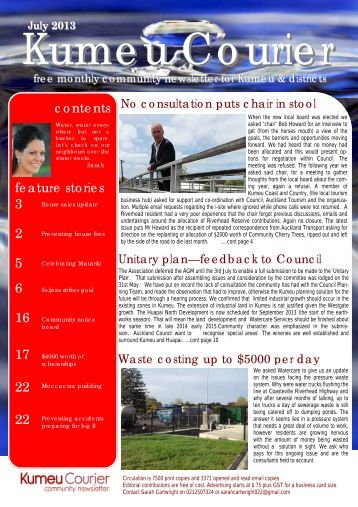 contents feature stories 3 2 5 6 16 17 22 22 - Kumeu Courier
