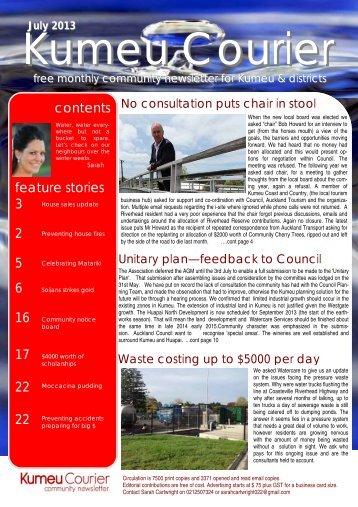 contents feature stories 3 2 5 6 16 17 22 22 - Kumeu Courier