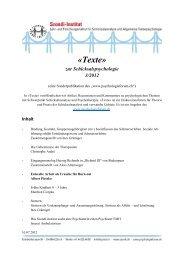 «Texte» - Szondi-Institut