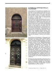 4.2 Gliederung und Wandgestaltung in Hauseingängen