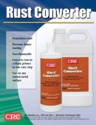 Rust Converter Sell Sheet - CRC Industries